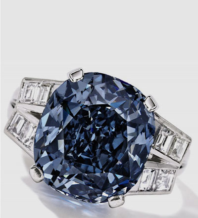 Shirley Temple Fancy Blue Colored Diamond Ring