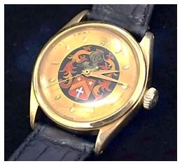 Christies Vintage Rolex Armoiries Enamel Dial